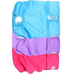 Dog Diapers Female 3 Pack Durable Reusable Dog Diapers For P