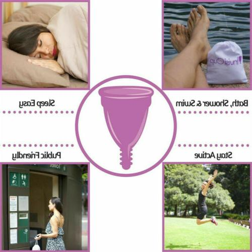 3x 4in1 Menstrual Moon Cup with Sterilizing Cups