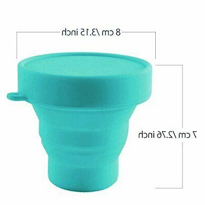 Collapsible Menstrual Silicone Cup Foldable Sterilizing for