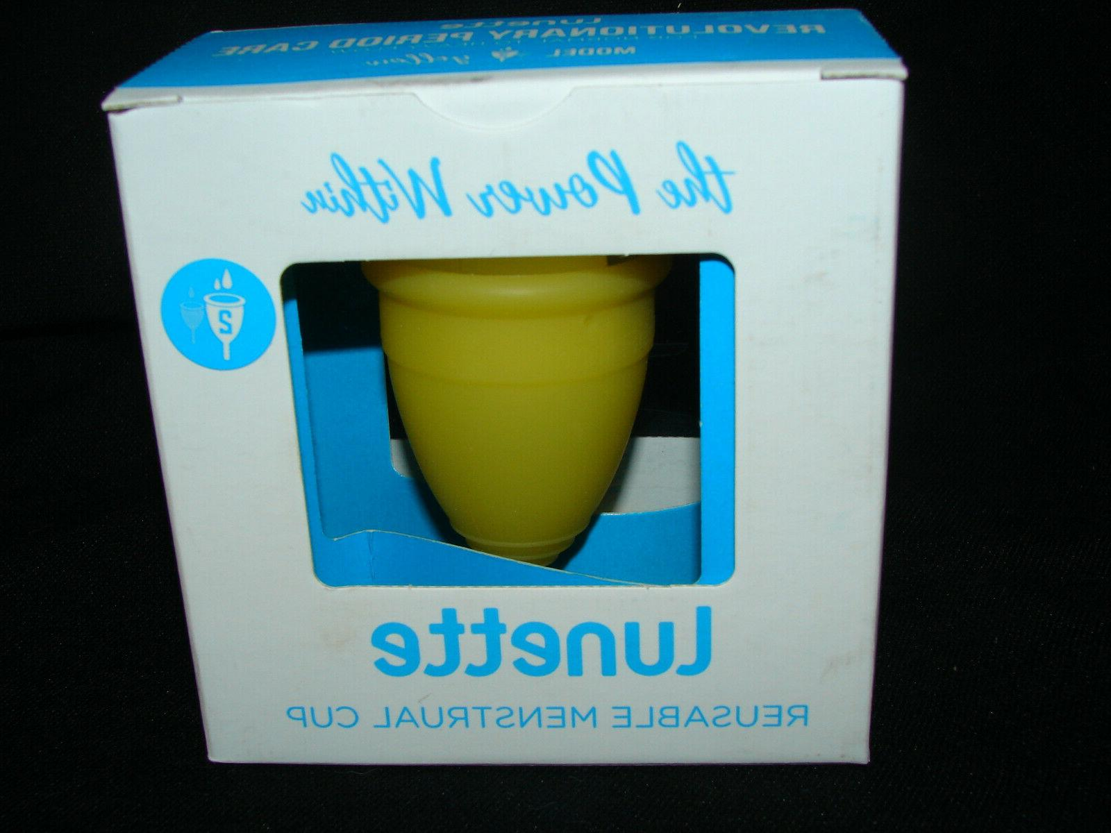 reusable menstrual cup model 2 yellow fast