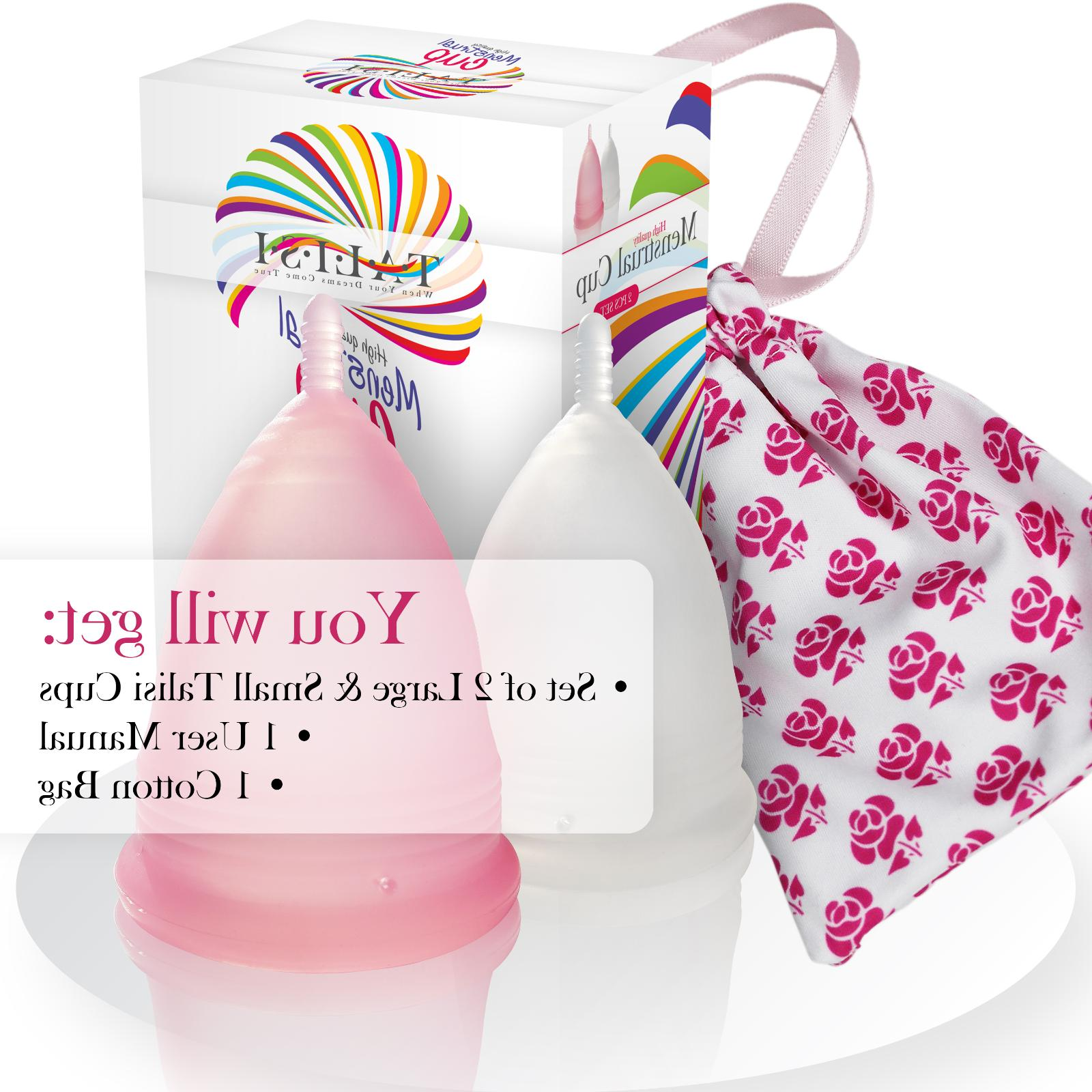 Talisi Reusable Set 2 Large and Small Cup