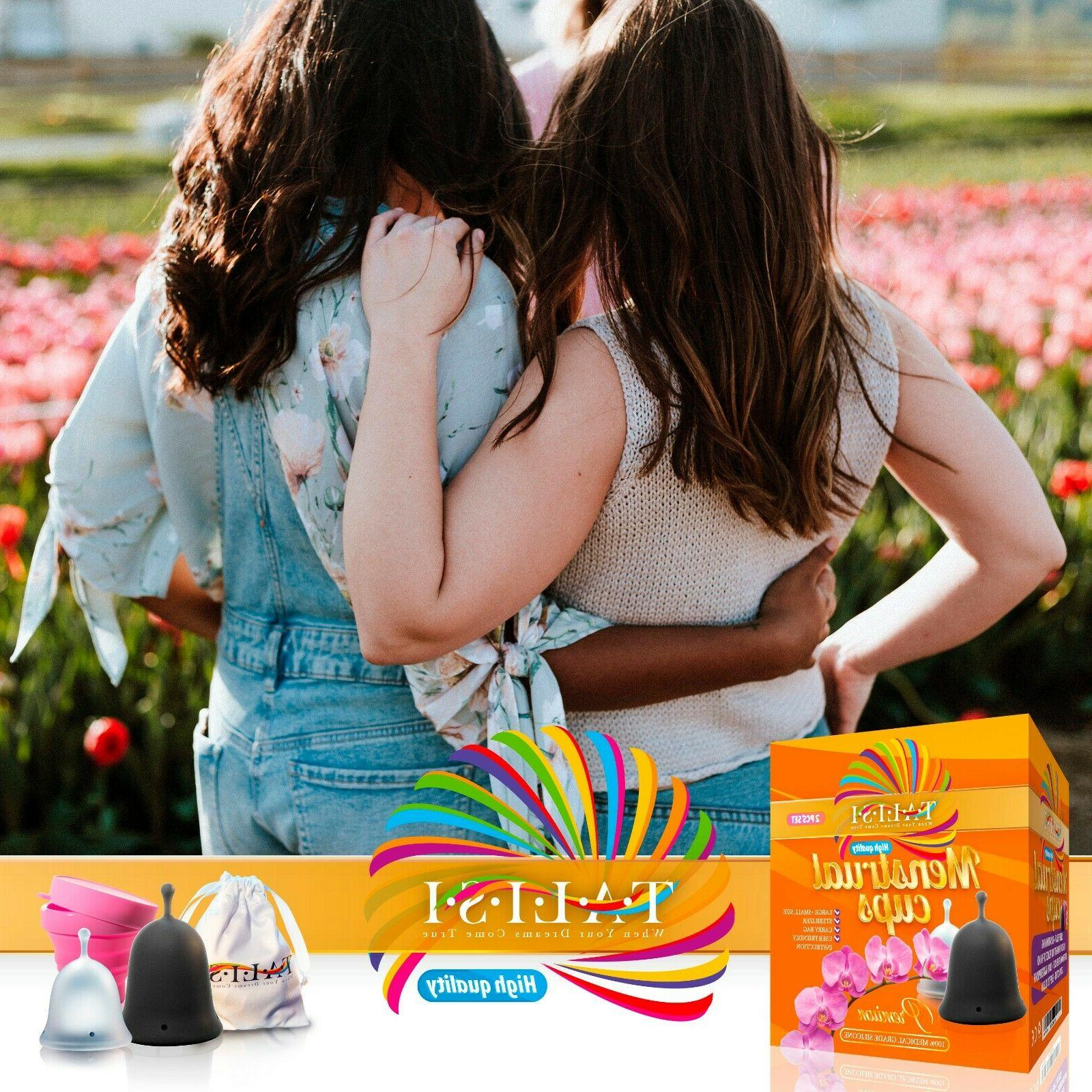 Talisi Hygiene Menstrual Cups Collapsible Cup