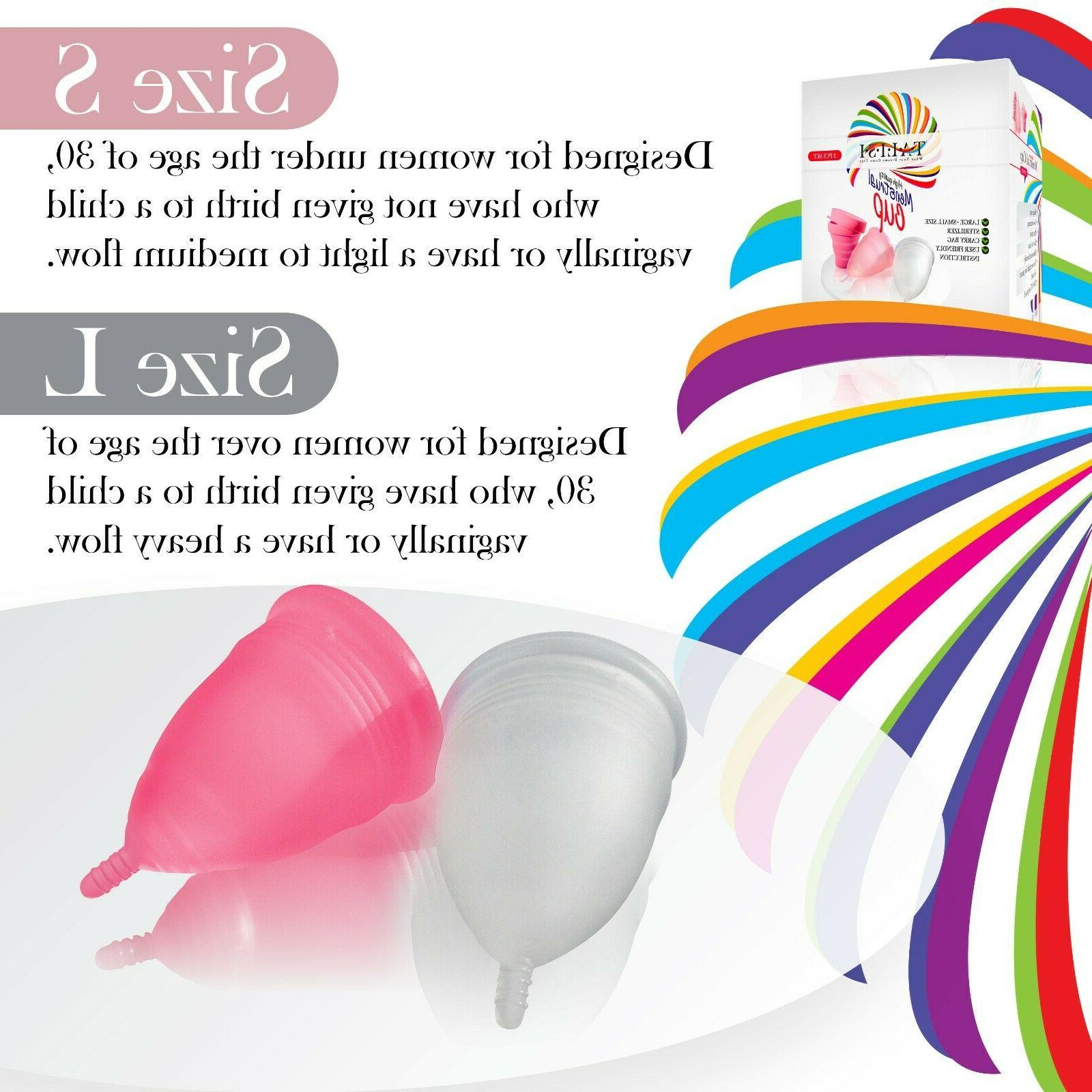 Talisi Menstrual Cups with Collapsible Period Cup