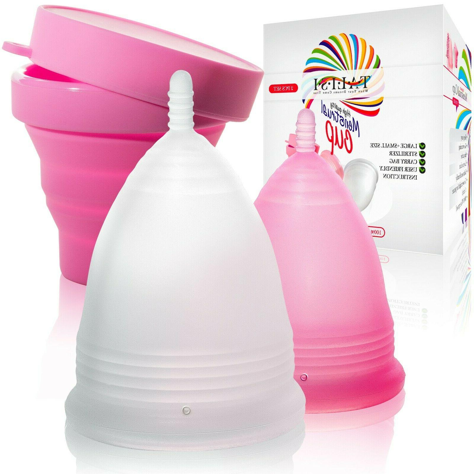 talisi menstrual cups with collapsible silicone foldable
