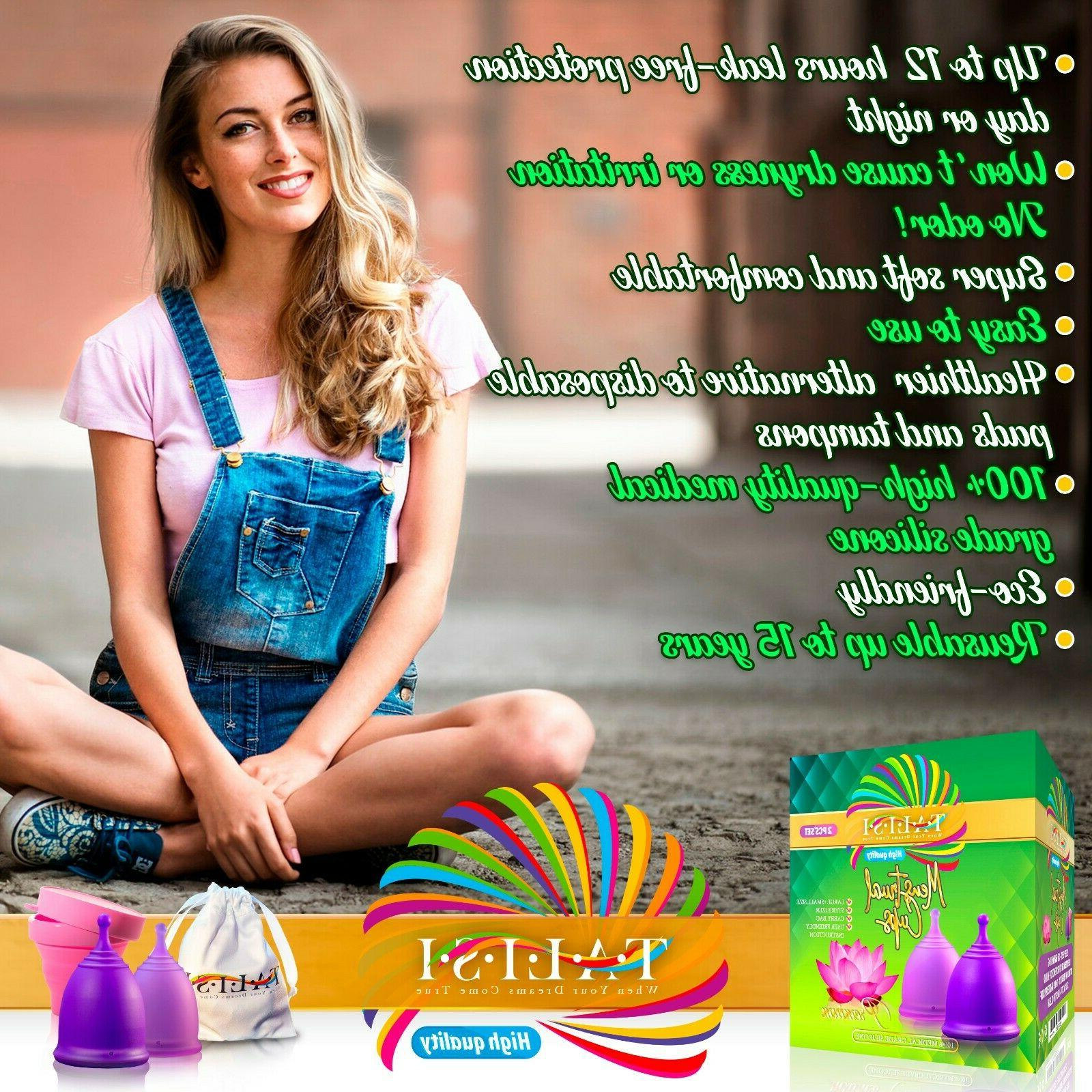 Talisi Soft Menstrual Cups – Reusable Cup – Period