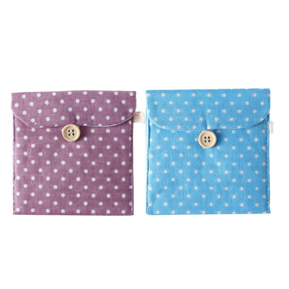 Women Sanitary Napkins Cute Dot Pouch Hold