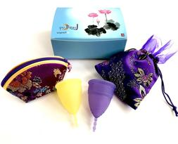 Luna Menstrual Cup Set of 2-1 Large 1 Small Period Cup High