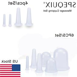 SPEQUIX Soft Silicone Vacuum Massage Cupping Cups Pain Relie