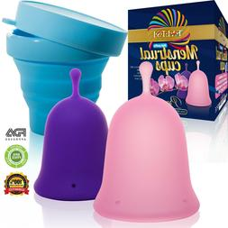 Talisi Menstrual Cups with Collapsible Silicone Sterilizing